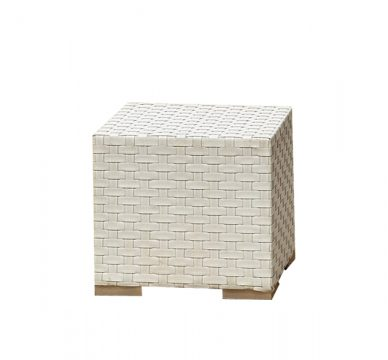 Wicker White Furniture Outdoor Cube Side Table Hire WA