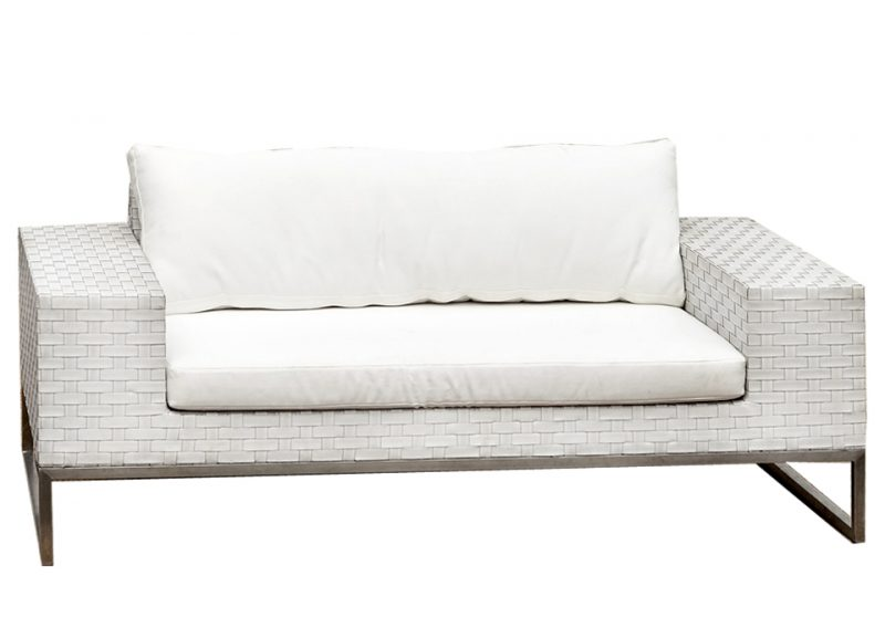 White wicker 2 seat couch outdoor furniture hire perth for White wicker outdoor furniture