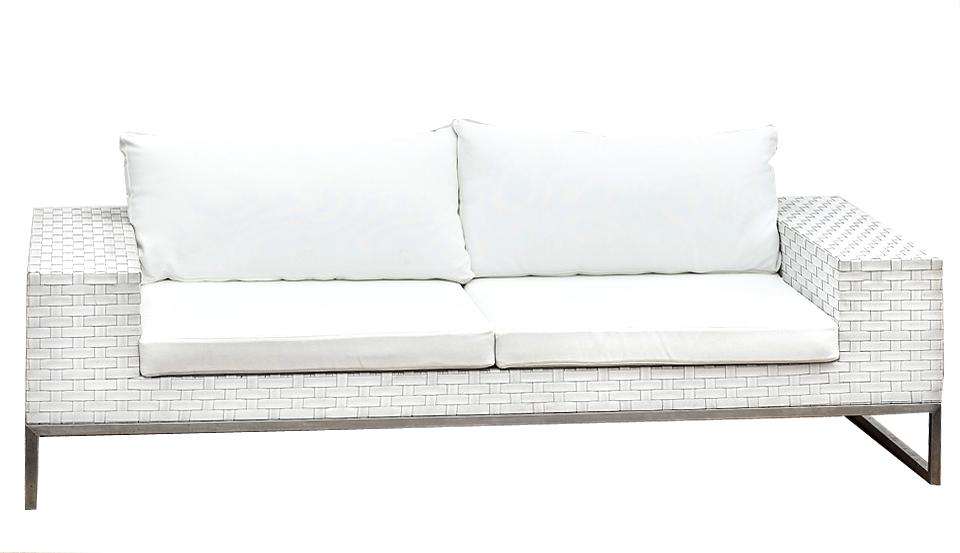 Wicker White Furniture Outdoor 3 Sofa Hire Perth Party