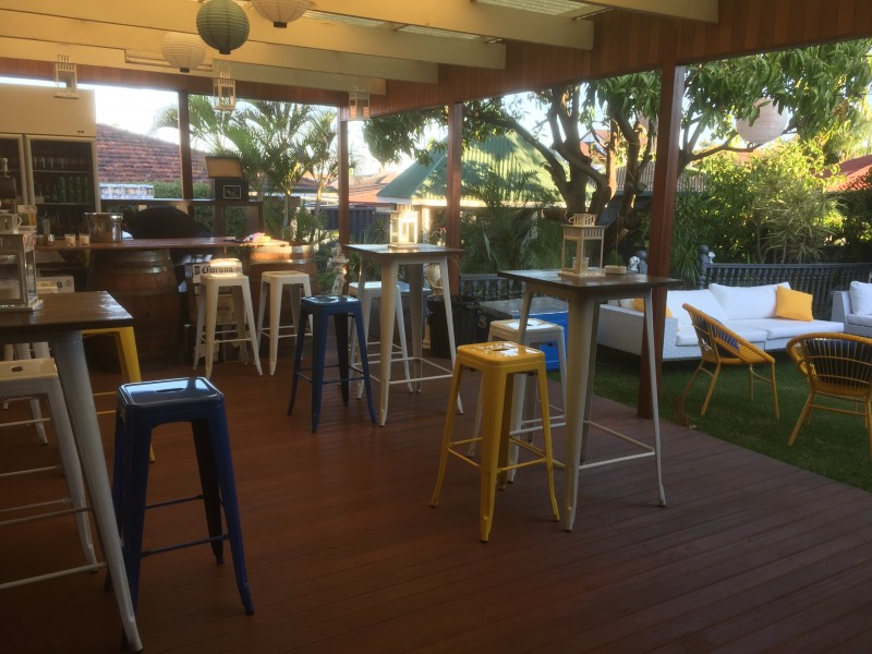 High Bar Table Hire White Tolix Timber Top Perth Party