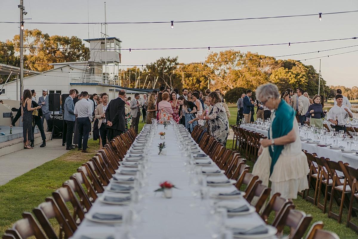 Outdoor wedding Nedlands Yacht club