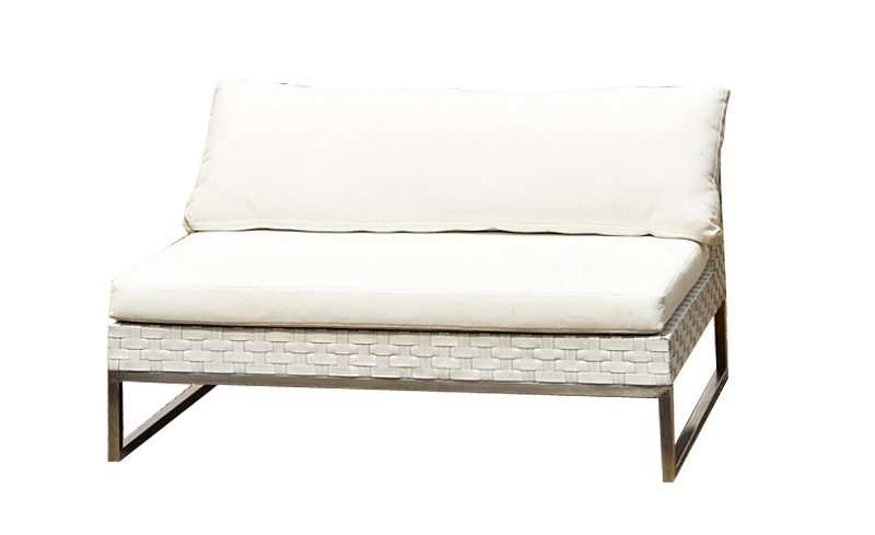 Awesome Wicker White 2 Seat No Arms Outdoor Furniture Party Hire Part 20