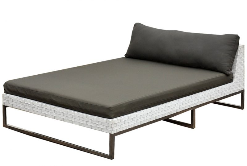 Outdoor chaise top lounge patio with outdoor chaise lounge for Backless double ended chaise longue
