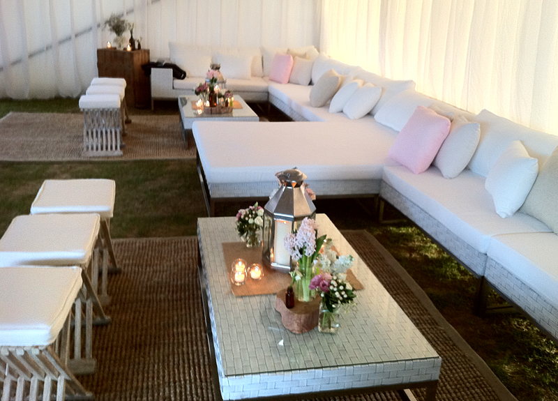 Wicker White Furniture Outdoor Chaise Day Bed No Arms Perth Event Furniture Hire
