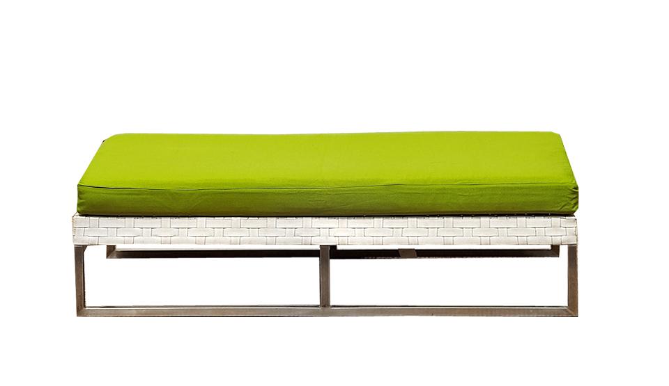 Wicker White Ottoman Outdoor Furniture Hire Perth Wa