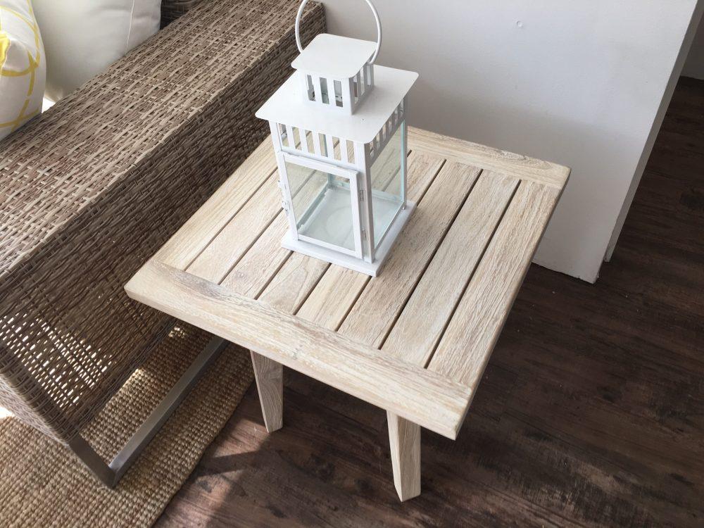 White wash coffee table hire | Perth Party Hire WA
