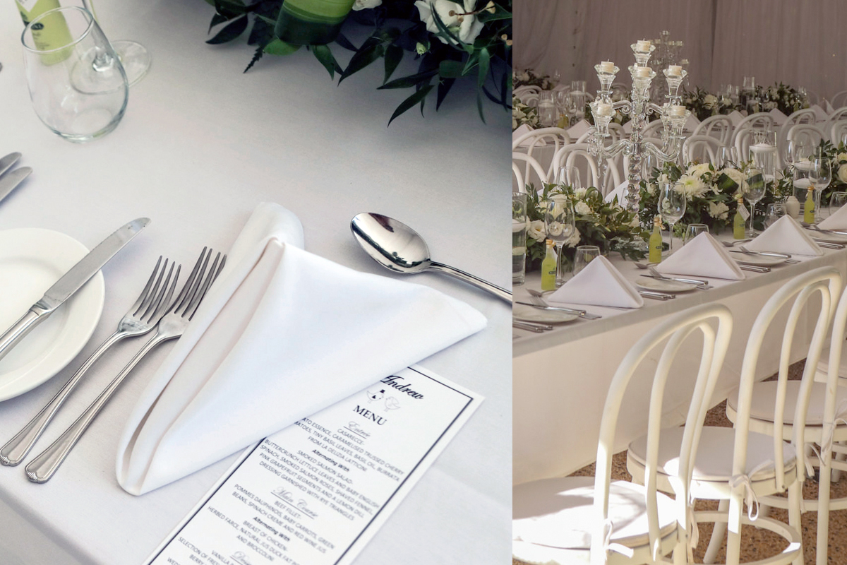 Wedding Table Setting Placements