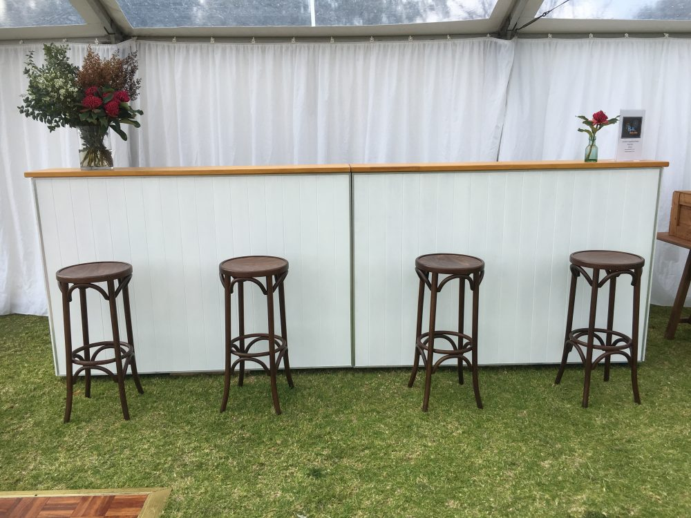 White And Beach Timber Bar Hire Mobile 18 Per Section Perth