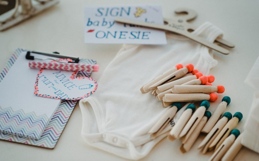 Sign my Onesie | Advice Pad | Pick a Sex Pegs