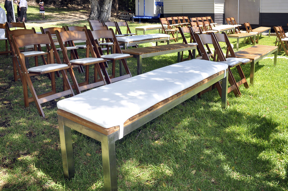 Wooden Folding Chairs and Benches for Hire