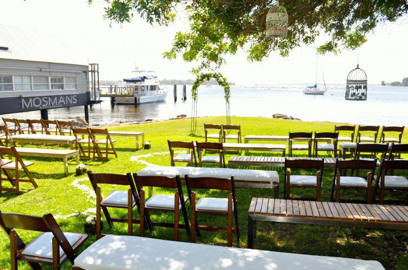 Wooden Folding Chairs, Benches and Arbor for Hire