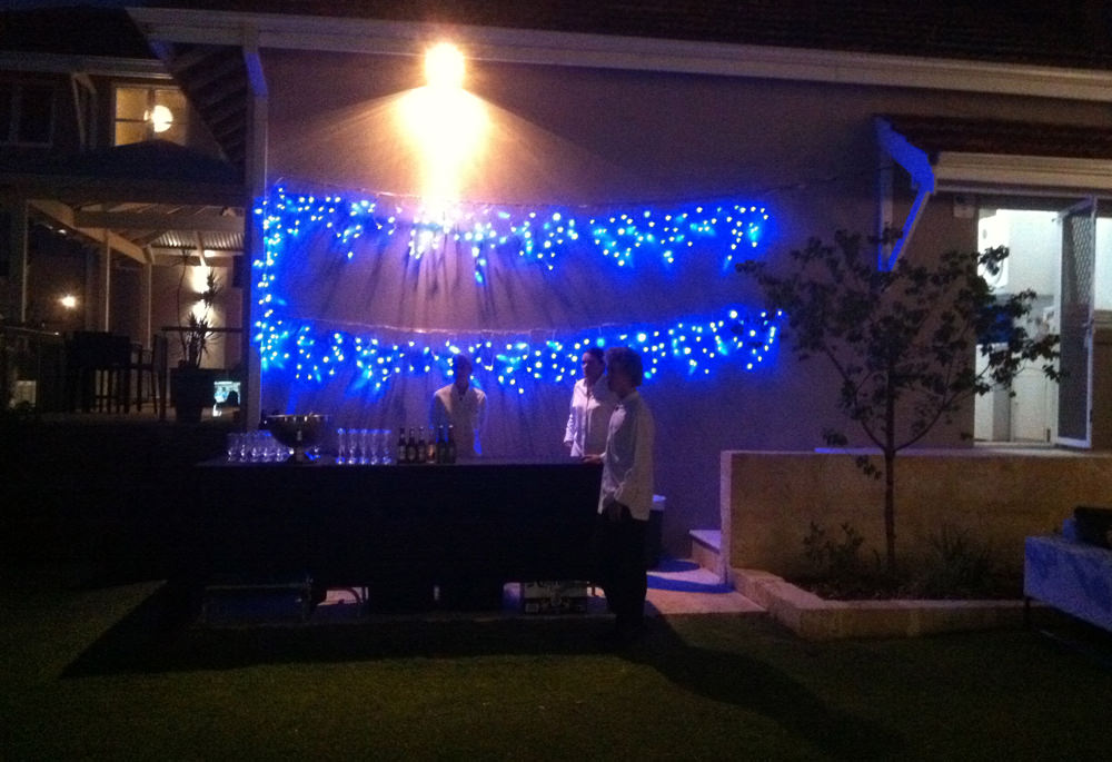 Neon, Icicle Lights Blue 10