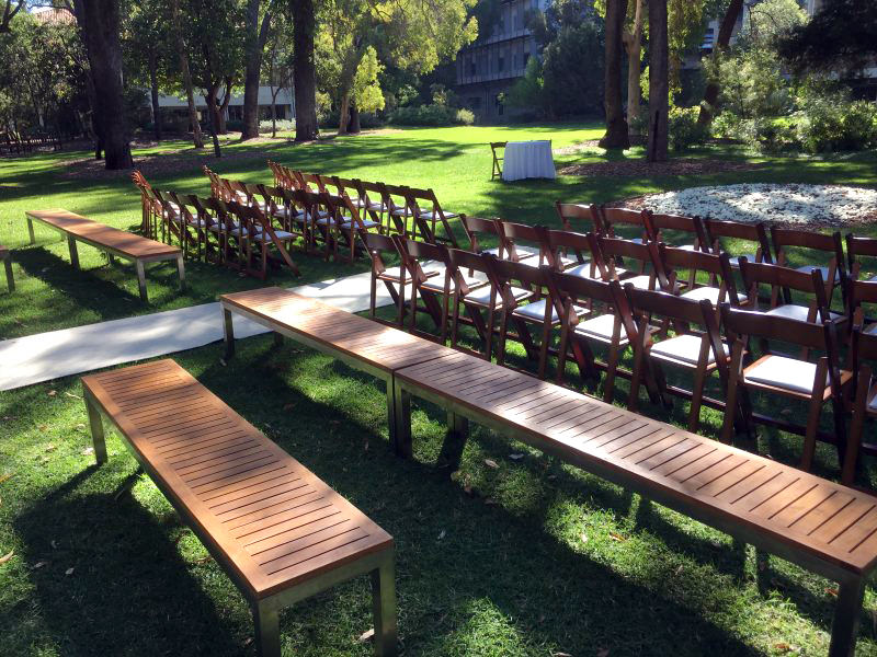 Wooden Chair and Bench Hire