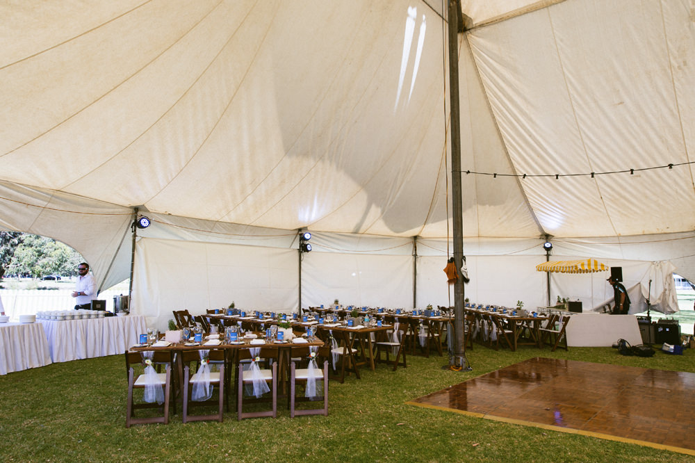 Circus Tent Reception