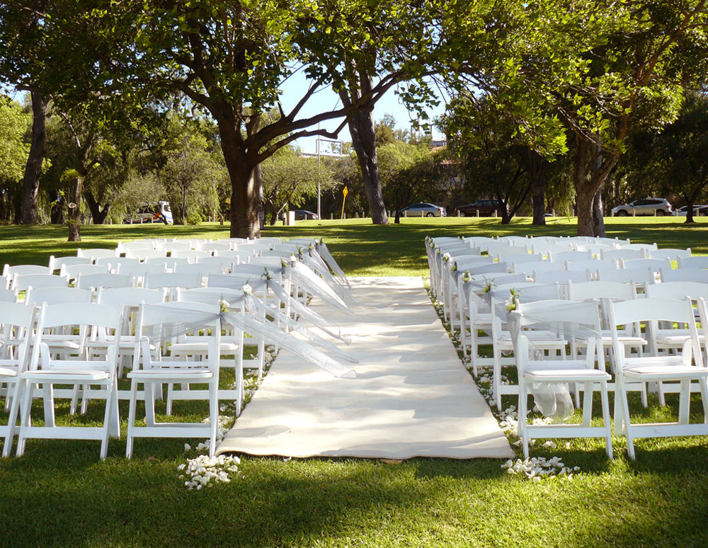 White Folding Chairs and Carpet Hire
