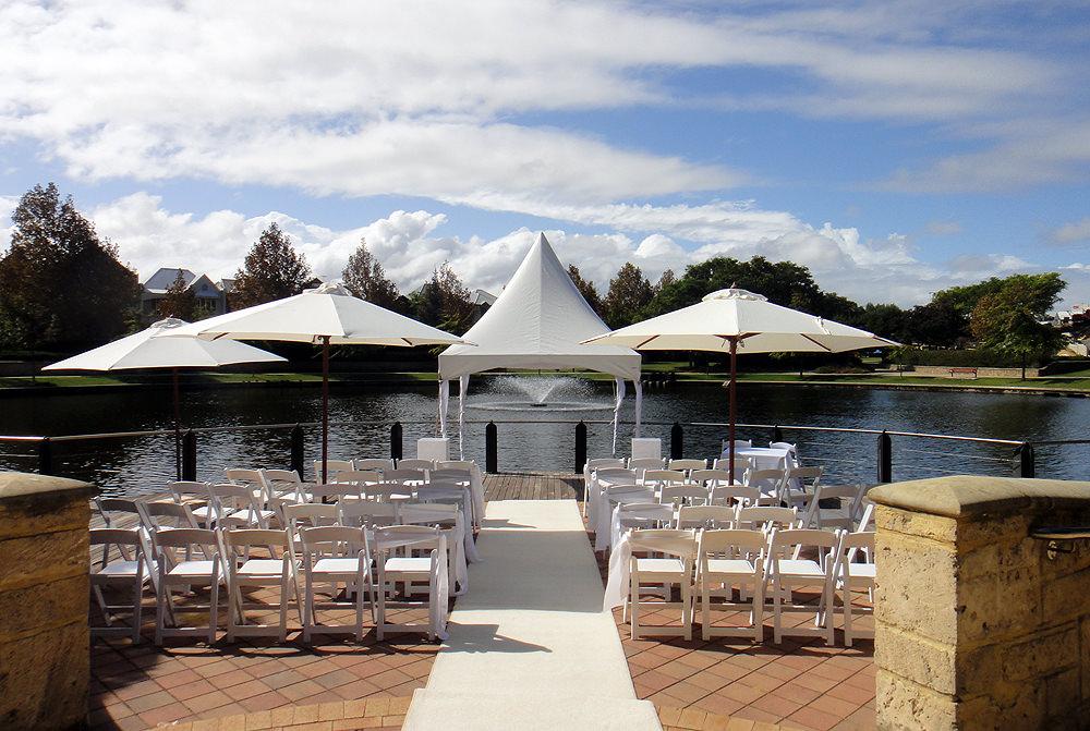 White Ceremony Set Up