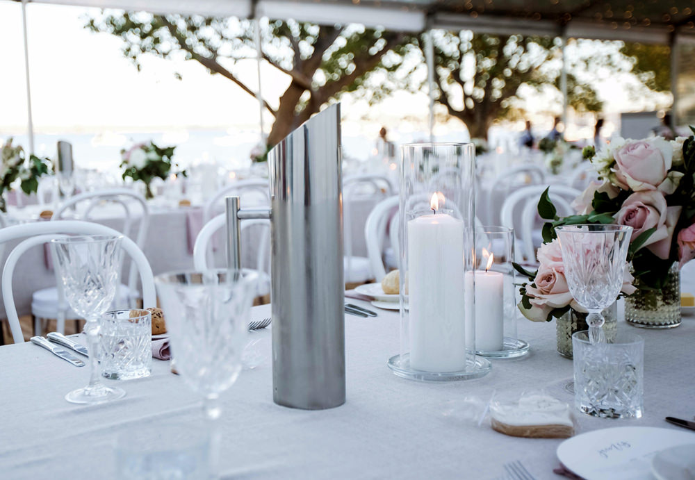 Crystal Glassware table setting