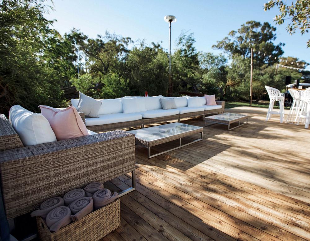 Wicker outdoor setting