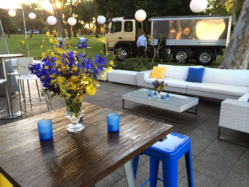 Outdoor lounge setting for hire