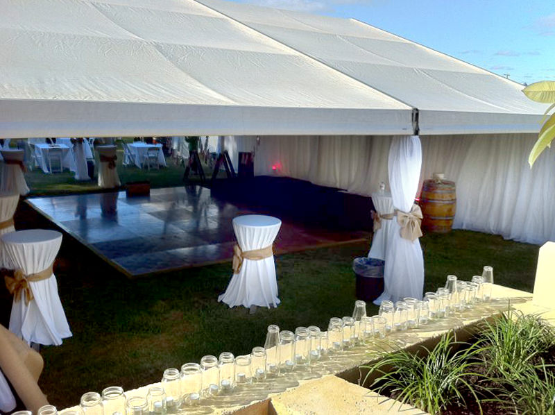 Party marquee and dance floor
