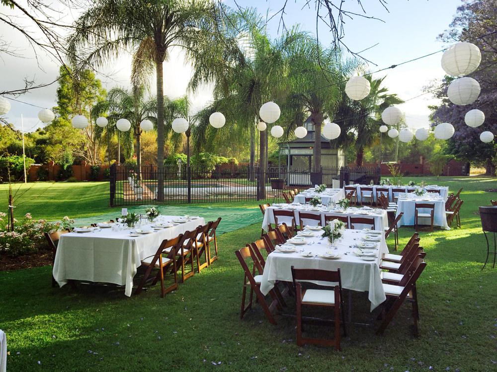 Outdoor Wedding Reception Hire