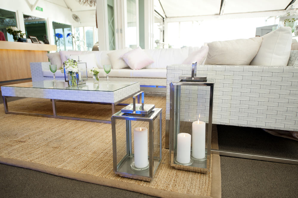 White Lounge Furniture Hire. Photo: Touched By Angels