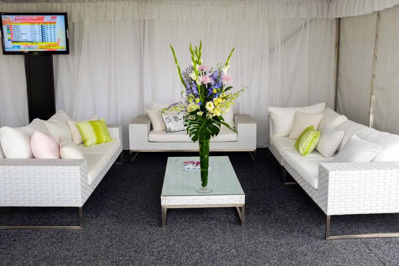 White lounge setting