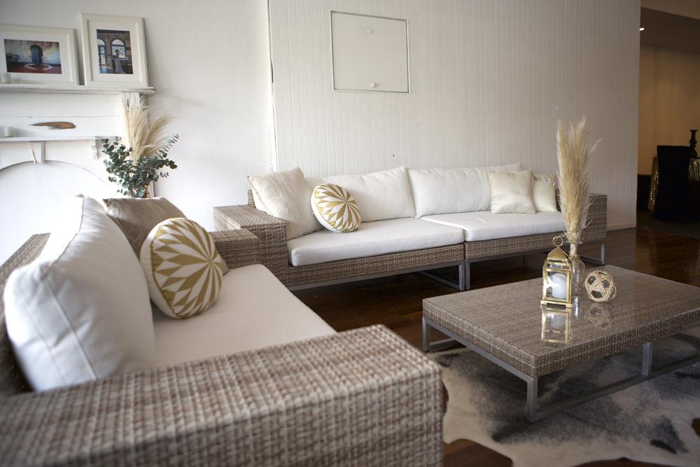 Natural earth lounge setting