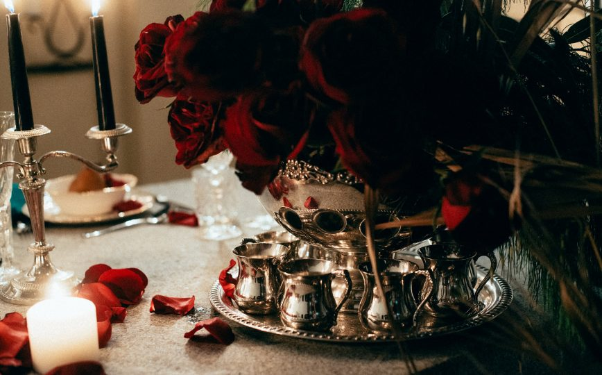 Silver Candelabras and Punch Bowl