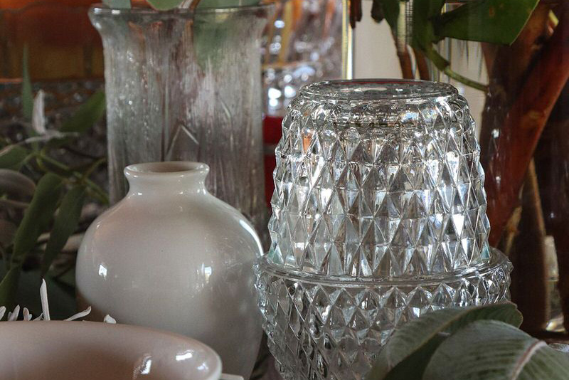 Tea light candle and vases