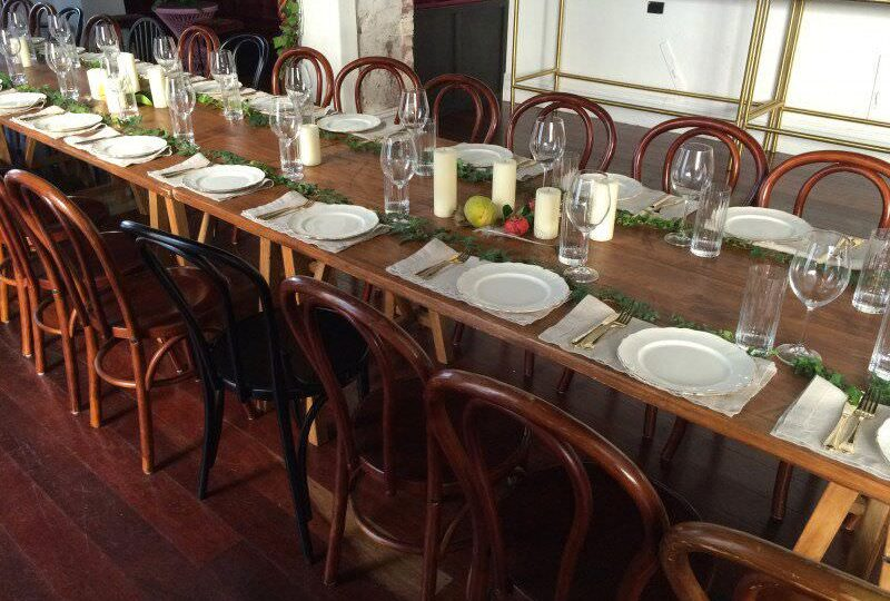 Christmas tables and chairs