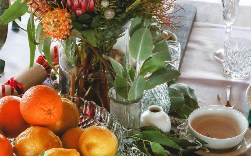 Christmas native table display