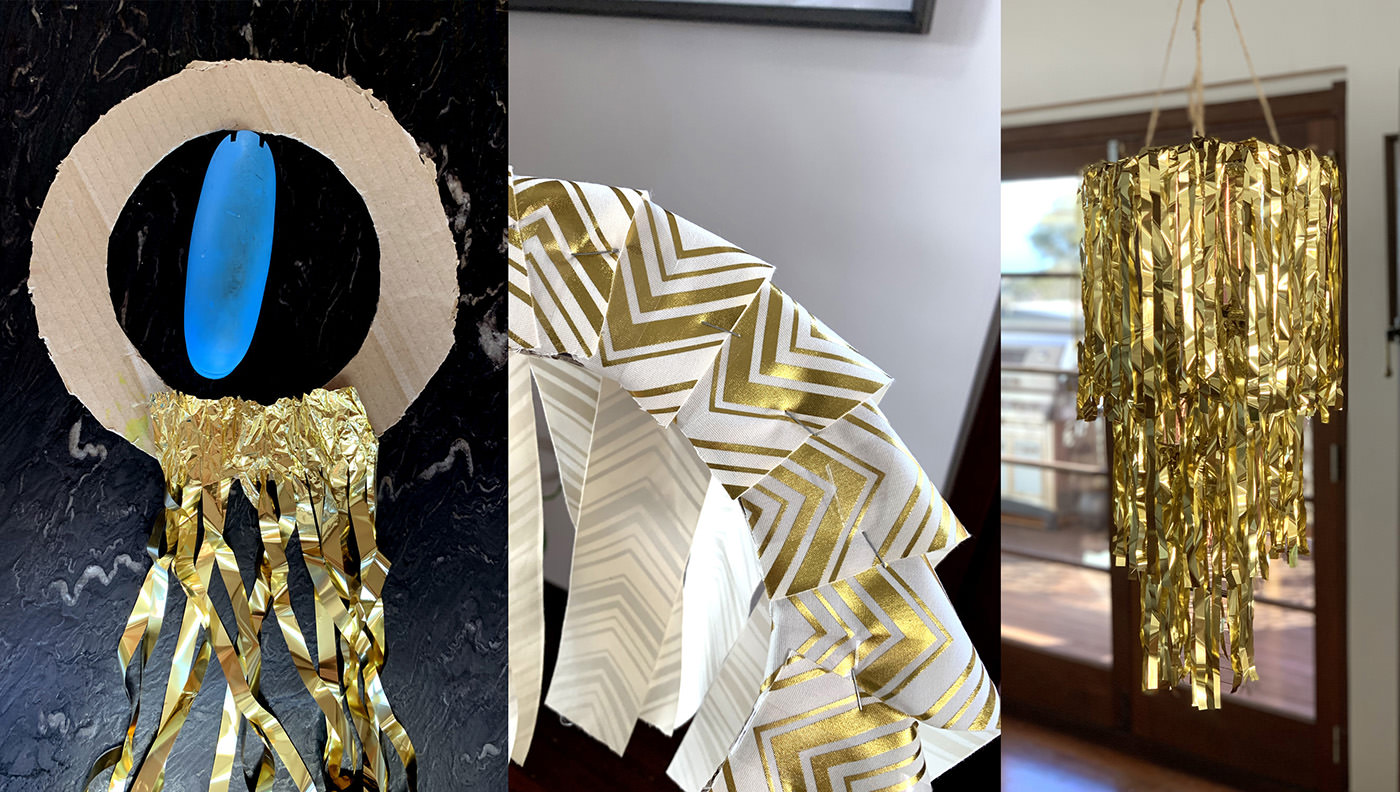 Make your own gold chandeliers